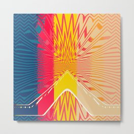 Abstract Center Metal Print