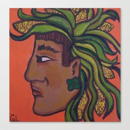 Native Face 3 Canvas Print