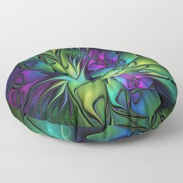 Colorful And Abstract Fractal Fantasy Floor Pillow