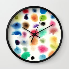 rainbow grid Wall Clock