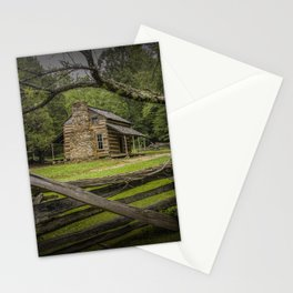 Oliver Log Cabin in Cade's Cove Stationery Cards