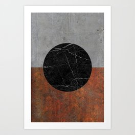 Abstract - Marble, Concrete, Rusted Iron Art Print