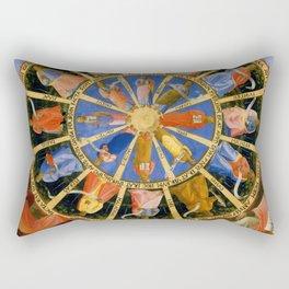 "Fra Angelico (Guido di Pietro) ""The Mystical Wheel (The Vision of Ezekiel)"" Rectangular Pillow"