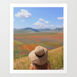 Welcome to Colorland Art Print