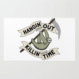 Hangin' Out Sloth Shirt Rug