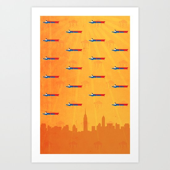Ikon II [orange] Art Print