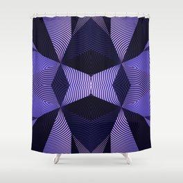 Origami in purple Shower Curtain