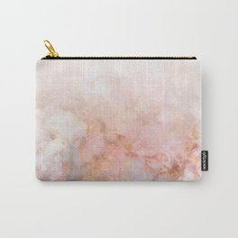 Beautiful Pink and Gold Ombre marble under snow Carry-All Pouch