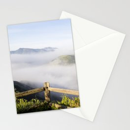 A Mountain View With Fog Rolling Stationery Cards