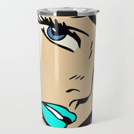 A roughly vectorised and reworked Roy Lichtenstein Travel Mug