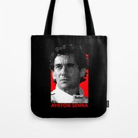 senna Tote Bags featuring Formula One - Ayrton Senna by Vehicle