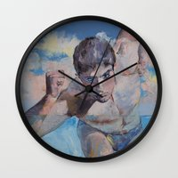 runner Wall Clocks featuring Runner by Michael Creese