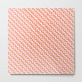 Tangerine Tetris Metal Print