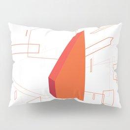 Blueprint #2 (red) Pillow Sham
