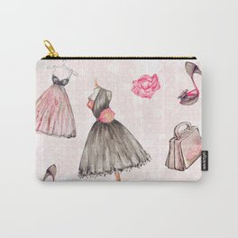 Black dress fashion #1 Carry-All Pouch