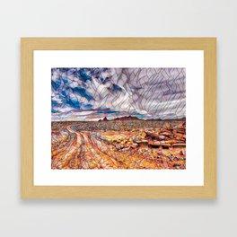 Magical Road Framed Art Print