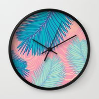 palm Wall Clocks featuring Palm by haytay