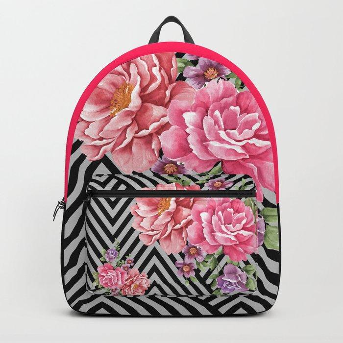 flowers geometric Backpack