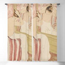 The Coiffure  by Mary Cassatt (1844-1926) Blackout Curtain
