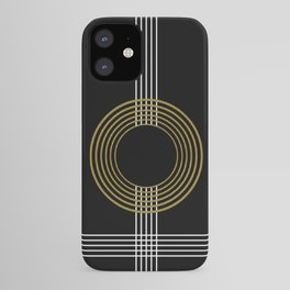 GUITAR IN ABSTRACT (geometric art deco) iPhone Case