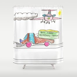 Runway Cleanup Shower Curtain