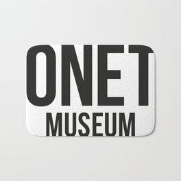 DONETE MUSEUM logo text design in black&white Bath Mat