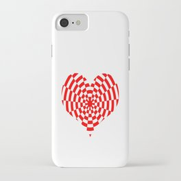 Monochrome Daze Red Heart iPhone Case