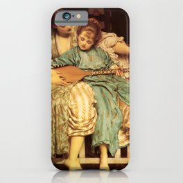 "Frederic Leighton ""Music lesson"" iPhone Case"