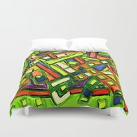 oakland Duvet Covers featuring Uptown Oakland by Octavious Sage