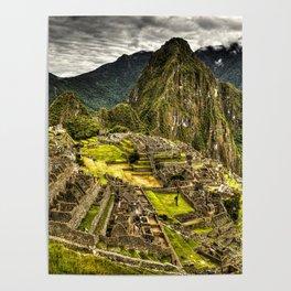 Machu Picchu Hi-Res HDR landscape Peru Poster