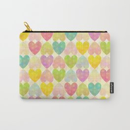Colorful Sweet Candy Heart Pattern II Carry-All Pouch