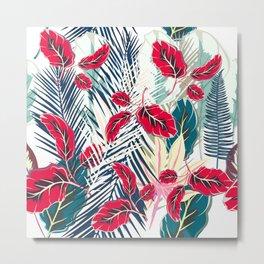 Trendy fashion tropics. Vector illustration print Metal Print