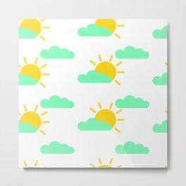 Cloudy Suns Metal Print