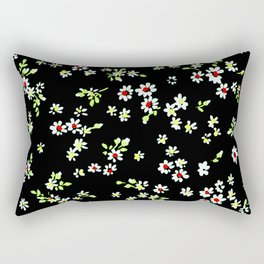 Fashion Textail Floral Print Design, Flower Allover Pattern Rectangular Pillow