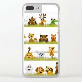 Adorable Zoo animals Clear iPhone Case