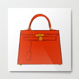 Le Kelly Bag Metal Print