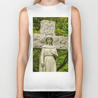 religious Biker Tanks featuring Religious Statue by Michael Moriarty Photography