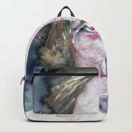 MARY SHELLEY - watercolor portrait Backpack
