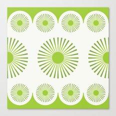 Dandelion Dish (Green) Canvas Print