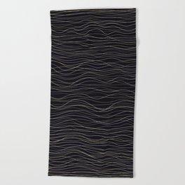 wave-stripe pattern Beach Towel
