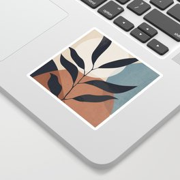 Abstract Art Tropical Leaf Sticker