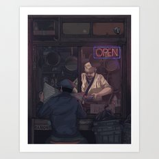 Night in Shinjuku Art Print