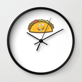 Cute & Funny Taco Tuesday Smiling Taco Wall Clock