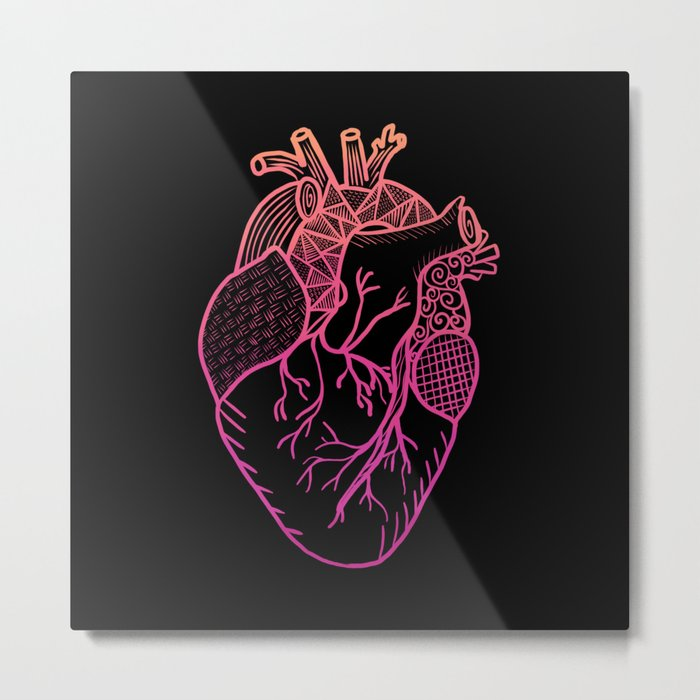 Designer Heart Colors Metal Print