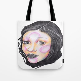 Blue and Purple with Wrapped Hair  Tote Bag