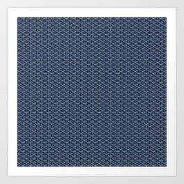 Goyard Pattern Dark Blue Art Print