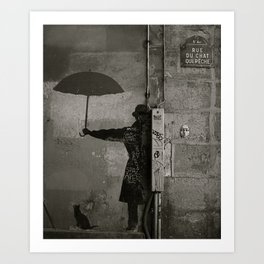 Rue du chat qui pêche  Art Print