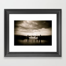 Moored Framed Art Print