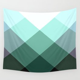 Teal Green Oxford Print Wall Tapestry