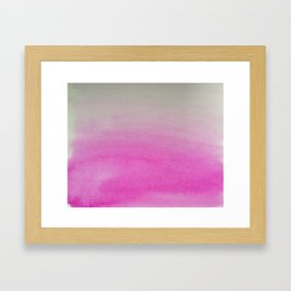 Ombre Watercolor pink Framed Art Print